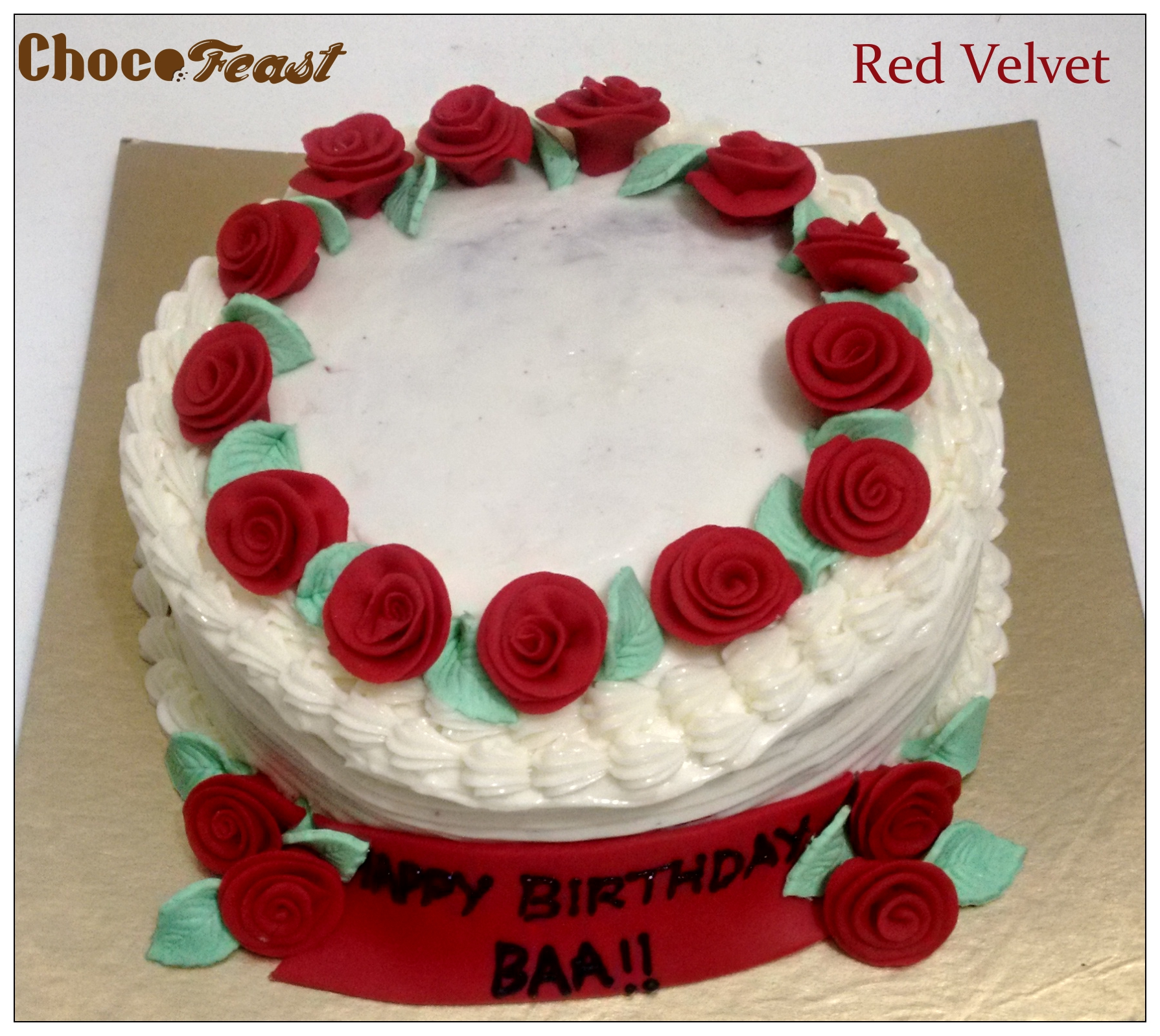 Red Velvet cake mumbai Chocofeast by Sunita